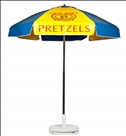 BLUE & YELLOW PRETZEL CART UMBRELLA