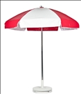 RED & WHITE CART UMBRELLA