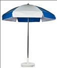 ROYAL BLUE & WHITE CART UMBRELLA