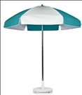 TEAL & WHITE CART UMBRELLA