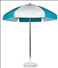 TURQUOISE & WHITE CART UMBRELLA