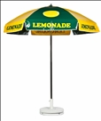 GREEN & YELLOW LEMONADE CART UMBRELLA