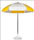 YELLOW & WHITE CART UMBRELLA